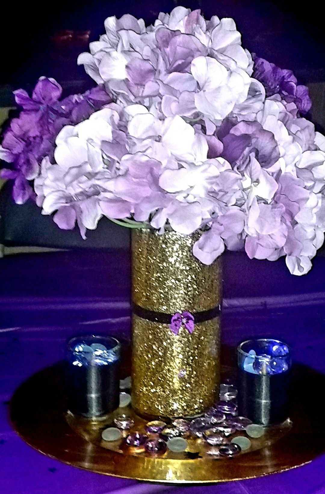 Mercury Glass Pedestal Vase Of Vase Floral Gold Centerpiece Picturesque Www Picturesboss Com Throughout Beautiful Gold Glitter Vase with Purple Hydrangeas Centerpiece Perfect for Any Occasion Jpg 1080x1642 Vase Floral