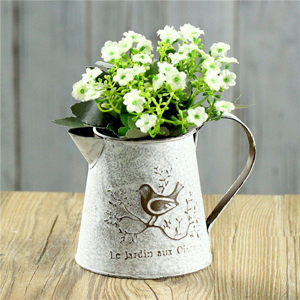 metal pitcher flower vase of french design rustic metal pitcher vase can make your home decor for french style white shabby chic mini metal pitcher flower vase with vintage bird decorativewrought iron manual plants vase with classical