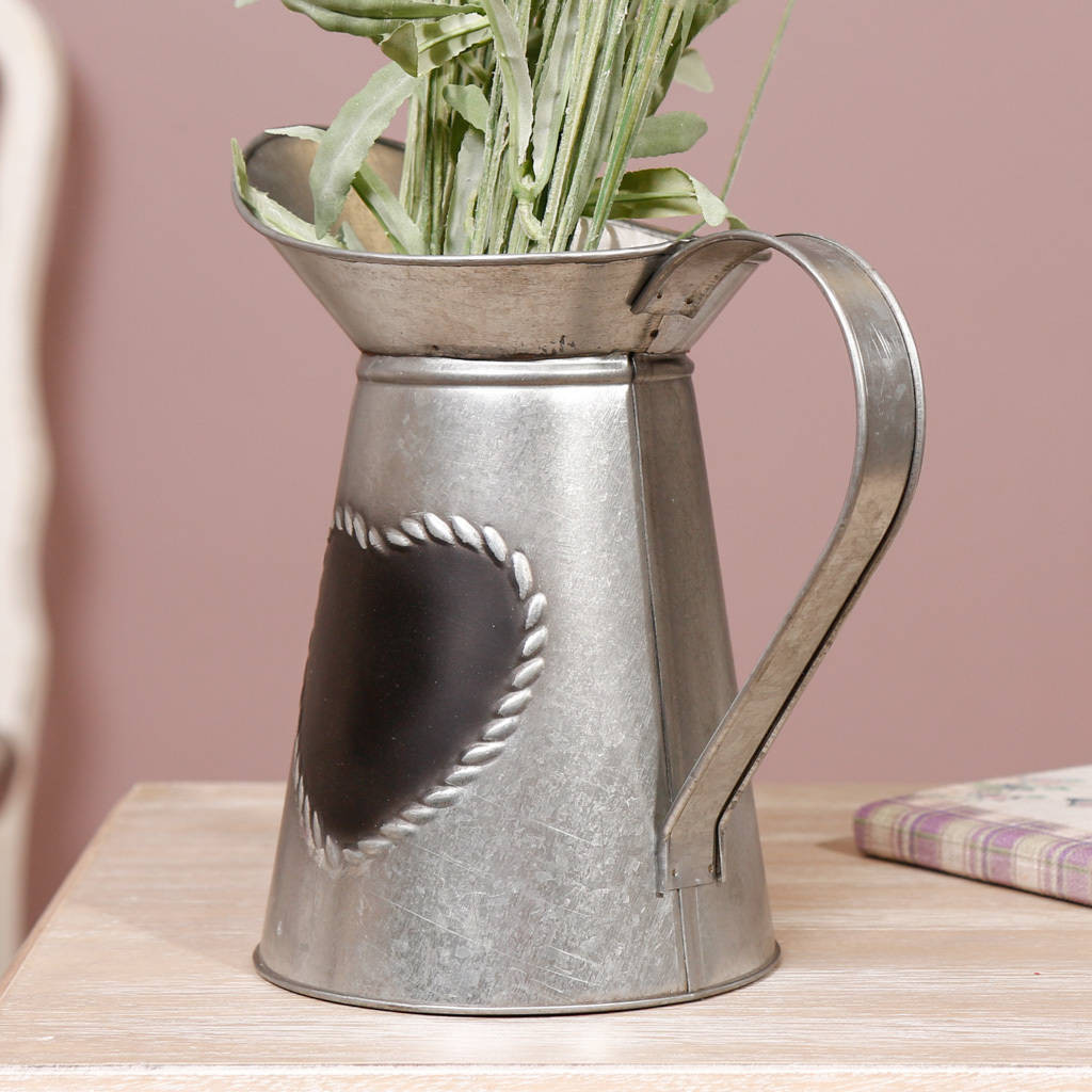 metal vase with handles of 10th anniversary personalised tin pitcher by dibor regarding 10th anniversary personalised tin pitcher