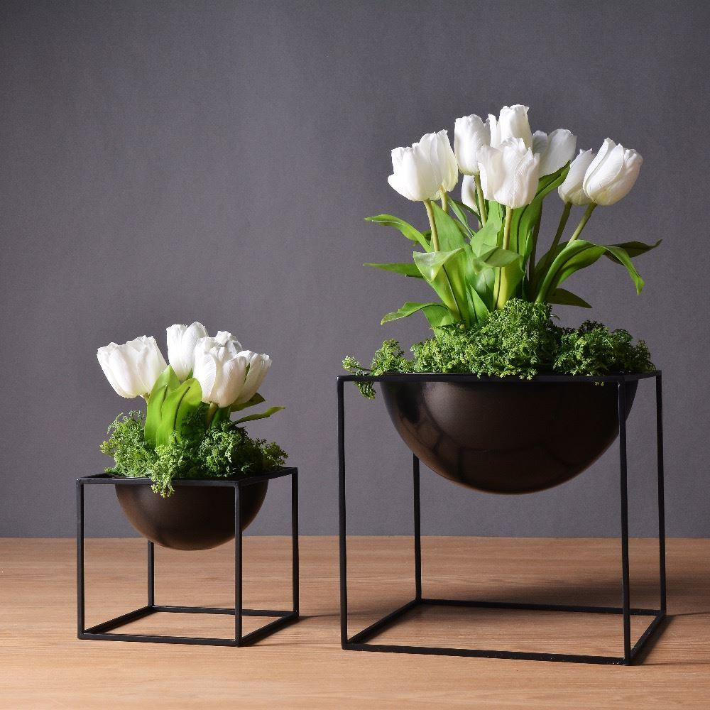 metal vases wholesale of online cheap white black modern tabletop vase metal square flower within online cheap white black modern tabletop vase metal square flower plant pot tray cube pergola garden planting flower home decoration by ye1124 dhgate com