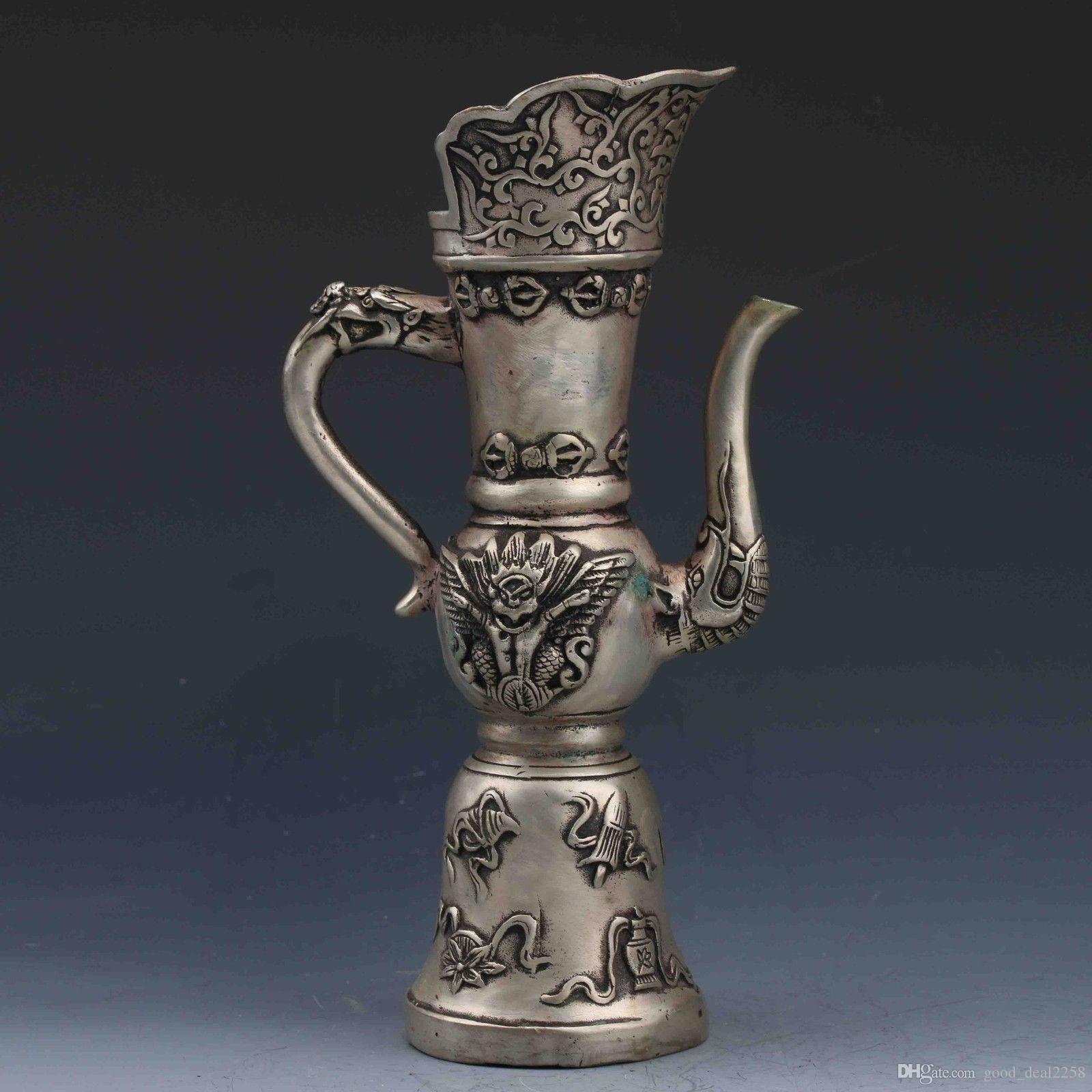 metal vases wholesale of silver vases wholesale elegant tibeten silver handwork carved dragon regarding silver vases wholesale elegant tibeten silver handwork carved dragon head teapot gd396