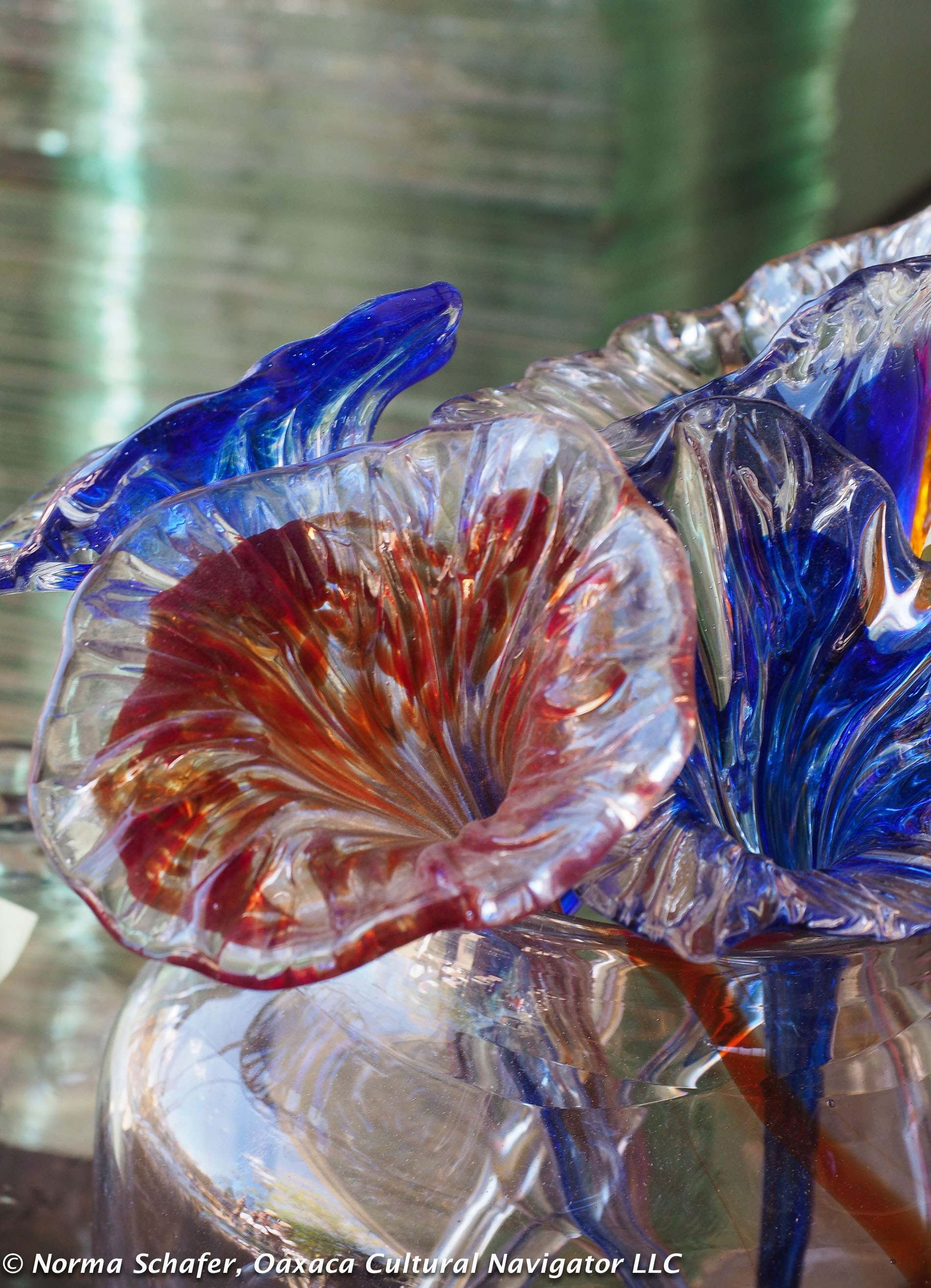 mexican blown glass vases of art glass oaxaca cultural navigator norma schafer throughout making recycled glass with discarded cooking oil that is converted to heat is how experiment takes on new meaning xaquixe founders christopher thornton and