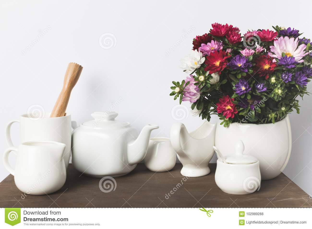 mexican ceramic vases of ceramic flower vase gallery kitchen utensils and flowers stock image throughout ceramic flower vase gallery kitchen utensils and flowers stock image of domestic table