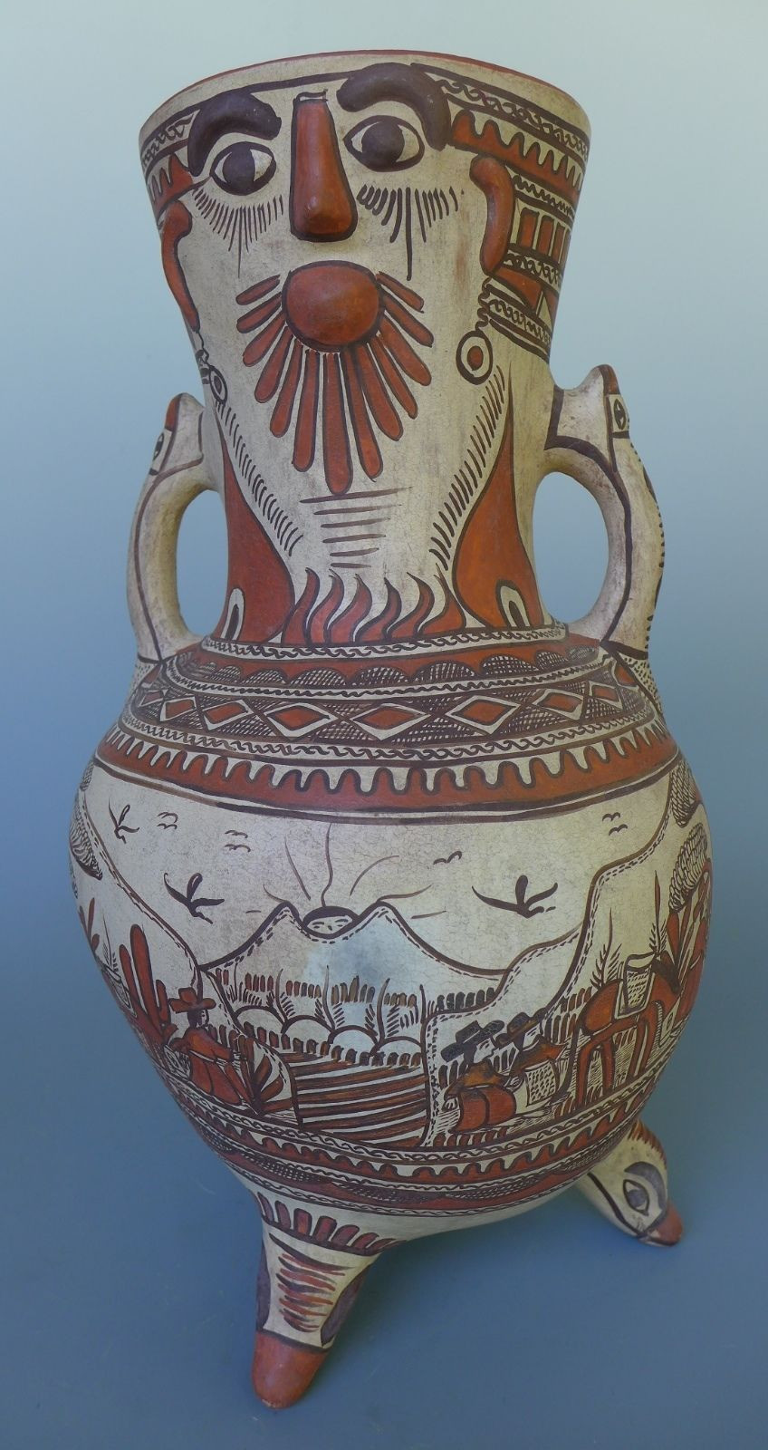 mexican ceramic vases of xl mexican pottery guerrero ameyaltepec ceramic tri pod urn 15 1 2 throughout xl mexican pottery guerrero ameyaltepec ceramic tri pod urn 15 1 2 tall ebay