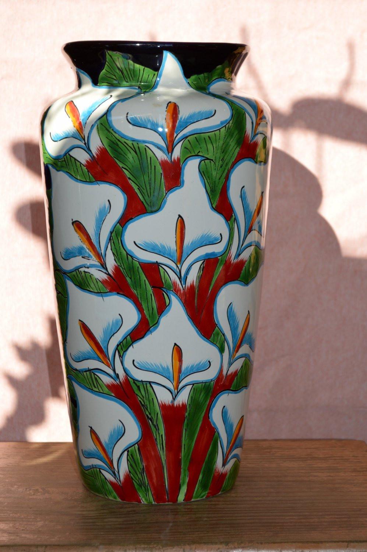"""mexican talavera vases of talavera calla lilies flower vase for dŸ""""Žzoom"""