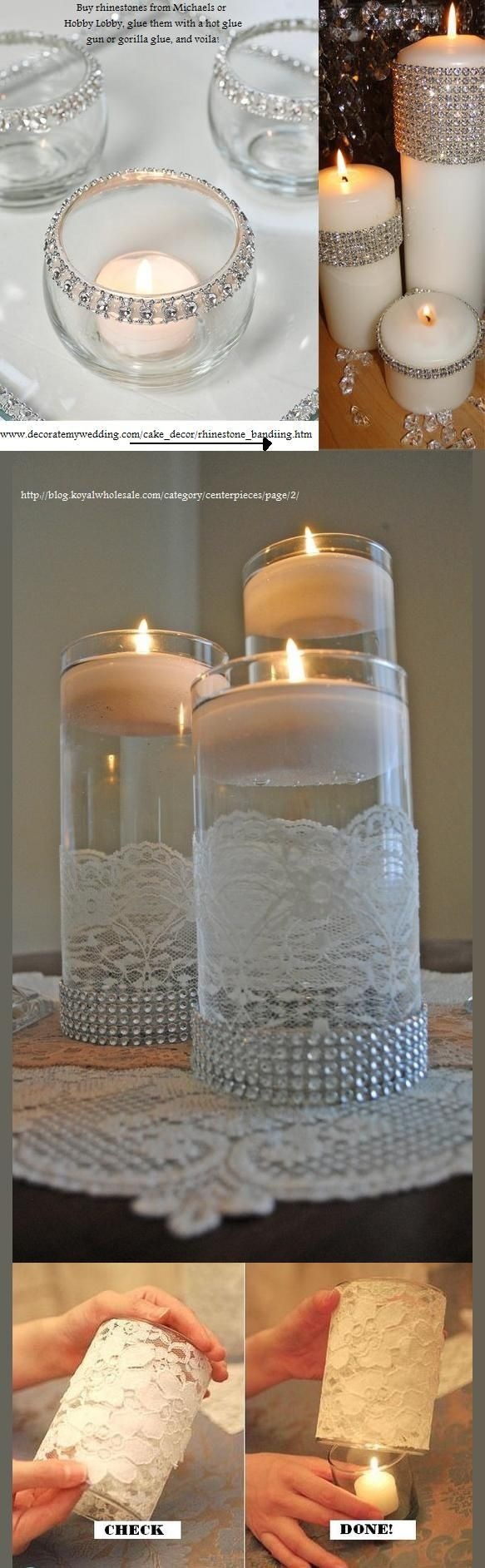 Michaels Glass Cylinder Vase Of 1572 Best Bicchieri Decorati Images On Pinterest Decorated Bottles Pertaining to Candles Vase Lace Diamond Rhinestone Ribbon From wholesale I Like the Lace but Not the Rhinestones at the Bottom