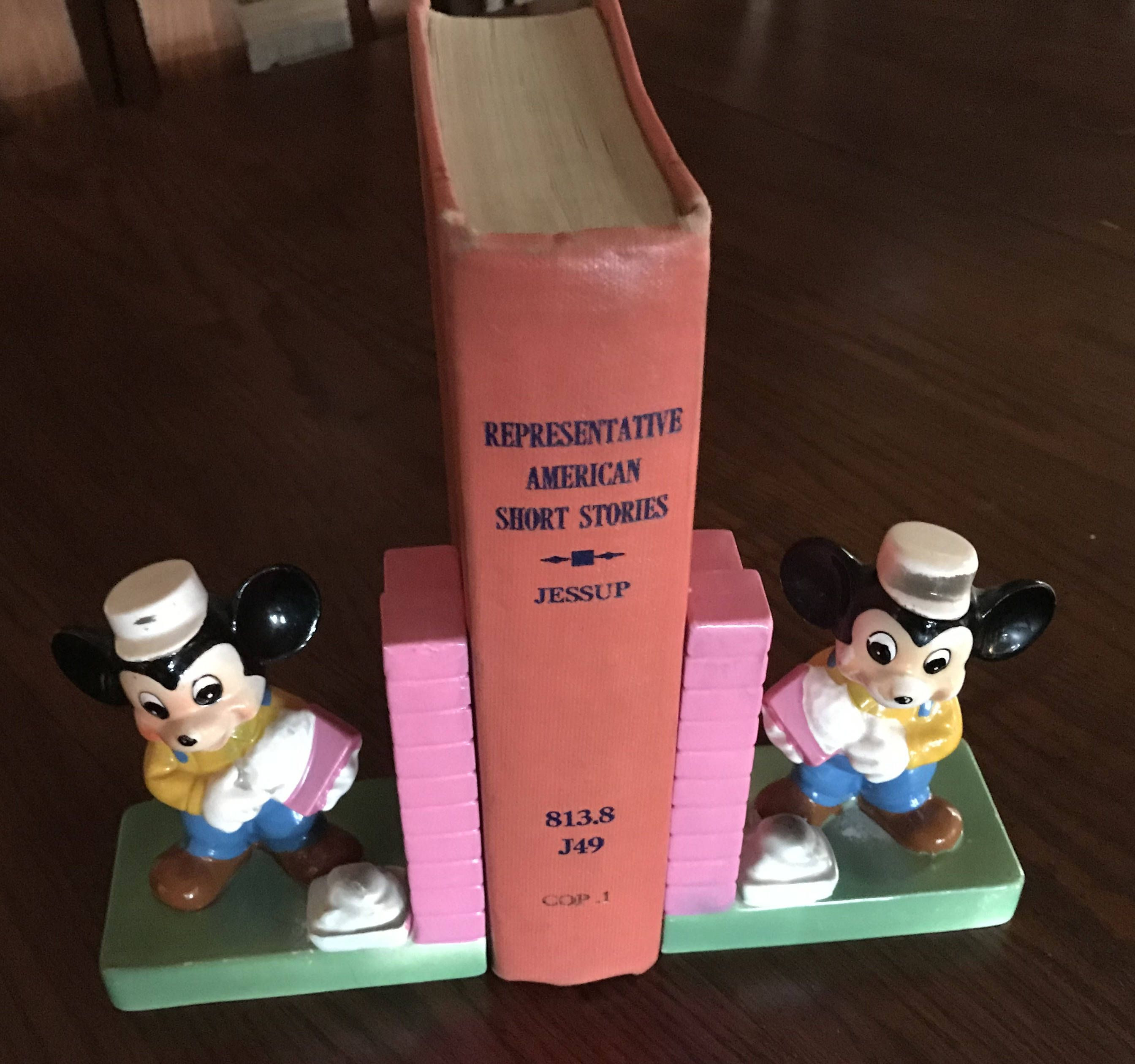 mickey mouse flower vase of collectible walt disney production mickey mouse book ends circa 1950 pertaining to walt disney production mickey mouse book ends circa 1950 by jessamines on etsy