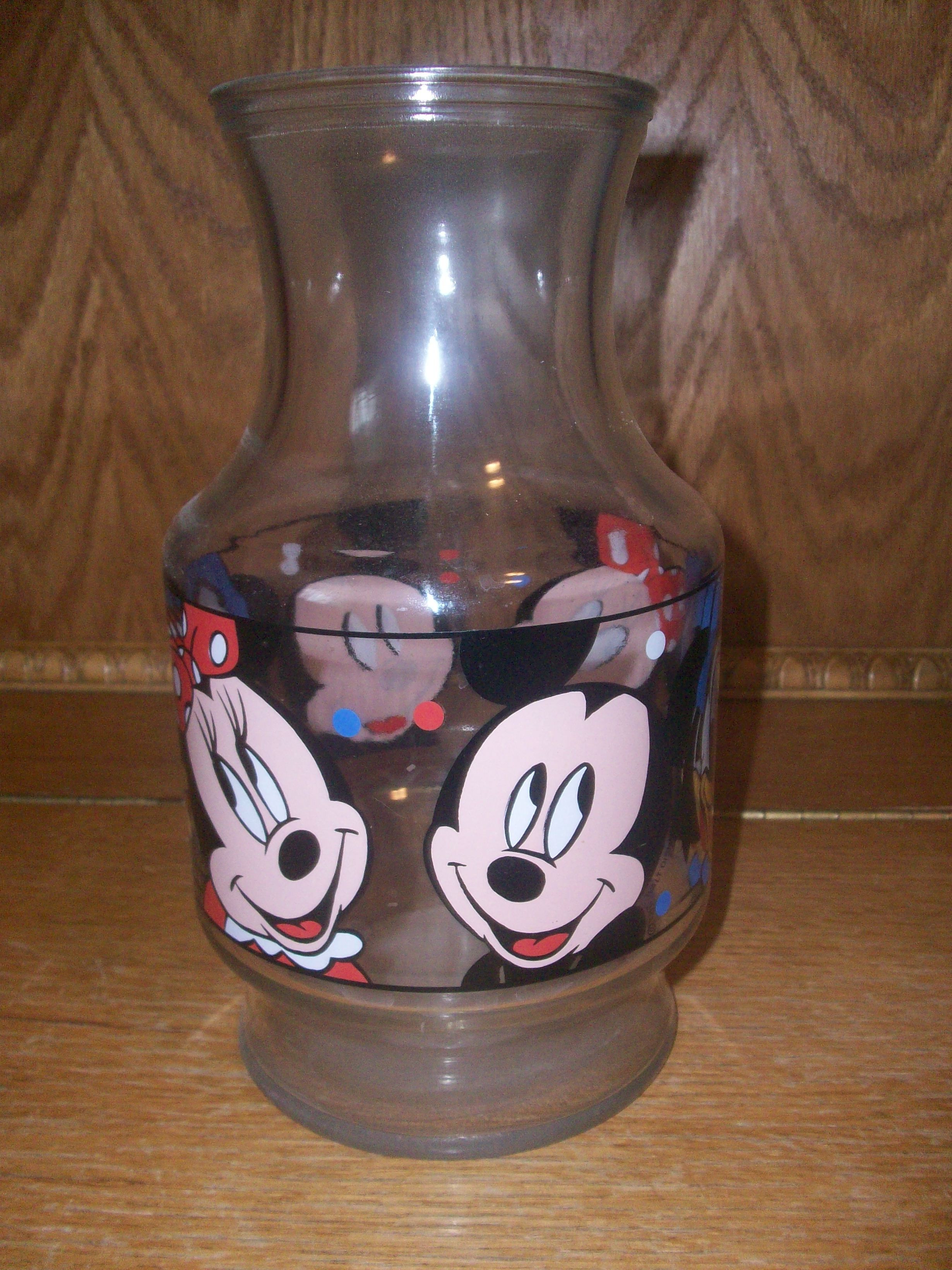 mickey mouse vase of mickey and minnie juice jug disney mickey and friends collection with regard to mickey and minnie juice jug