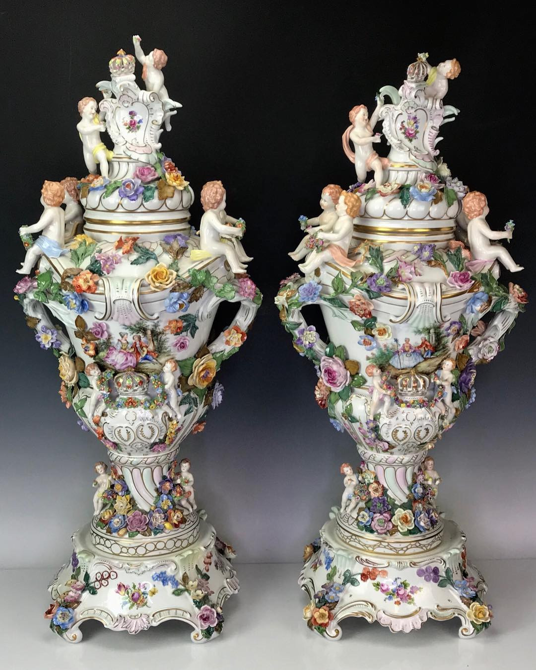 middle kingdom porcelain vases of louvreantiques hash tags deskgram intended for pair od dresden porcelain vases 40 high