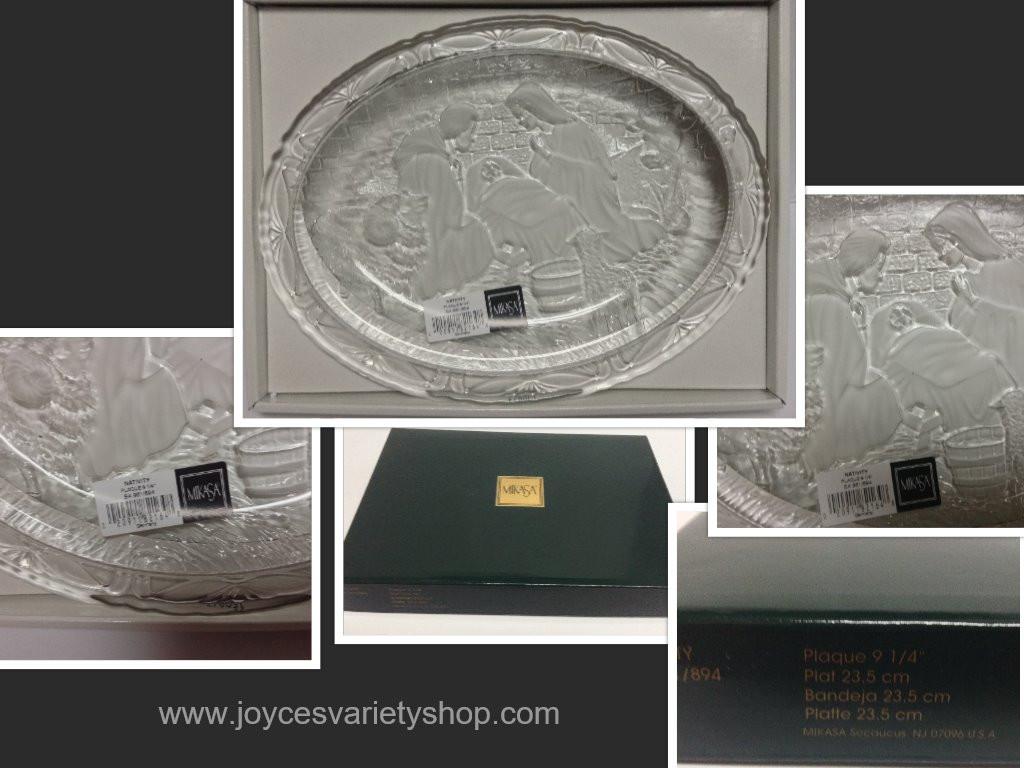 mikasa crystal vase value of home garden for mikasa crystal nativity plate christmas scene