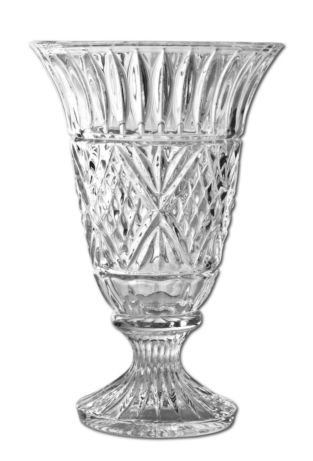 Mikasa Florale Crystal Vase Of Amazon Com Godinger Dublin 7 3 4 Inch Crystal Vase Decorative for Amazon Com Godinger Dublin 7 3 4 Inch Crystal Vase Decorative Vases Kitchen Dining