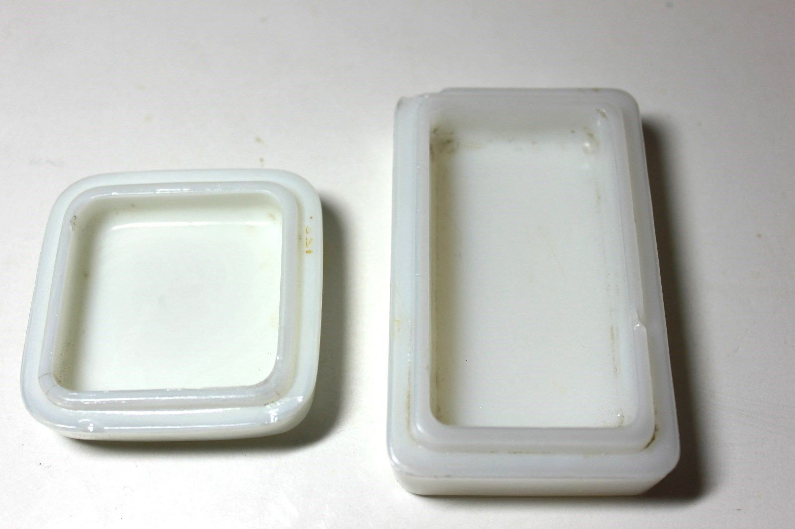 milk glass vase hobnail of lot of two 2 milk glass containersoldnadinola creamparis regarding 1 of 3free shipping