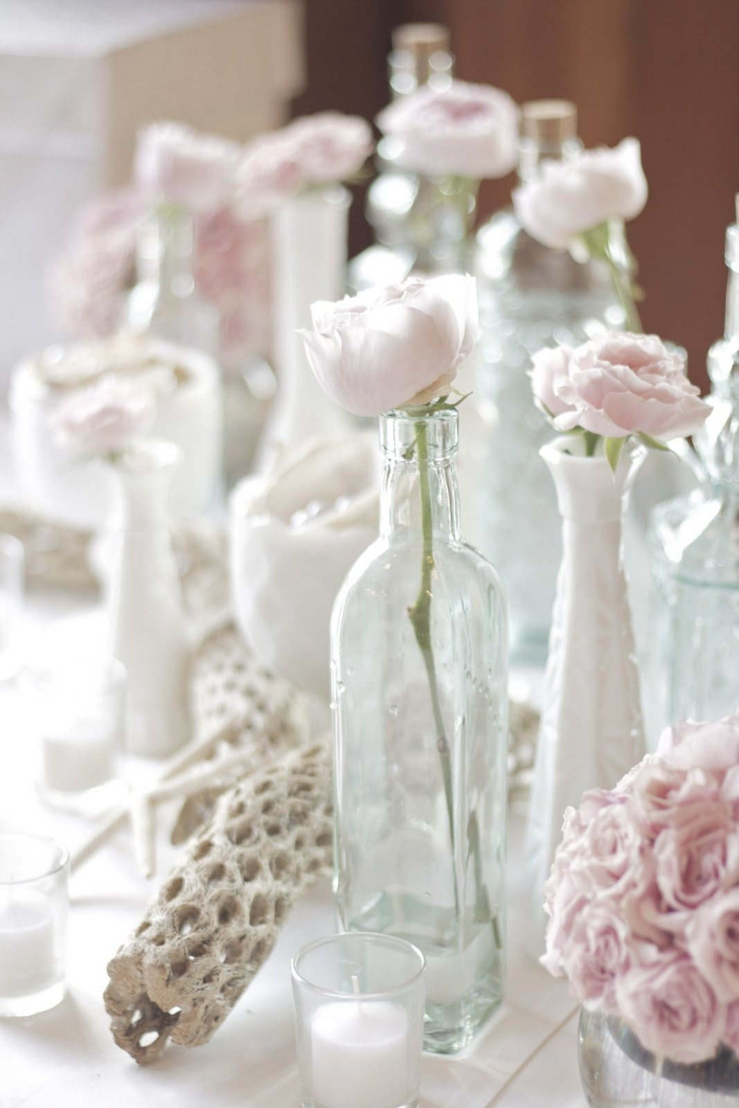 milk vases for centerpieces of single light pink antique roses in white milk vases and glass intended for single light pink antique roses in white milk vases and glass bottles