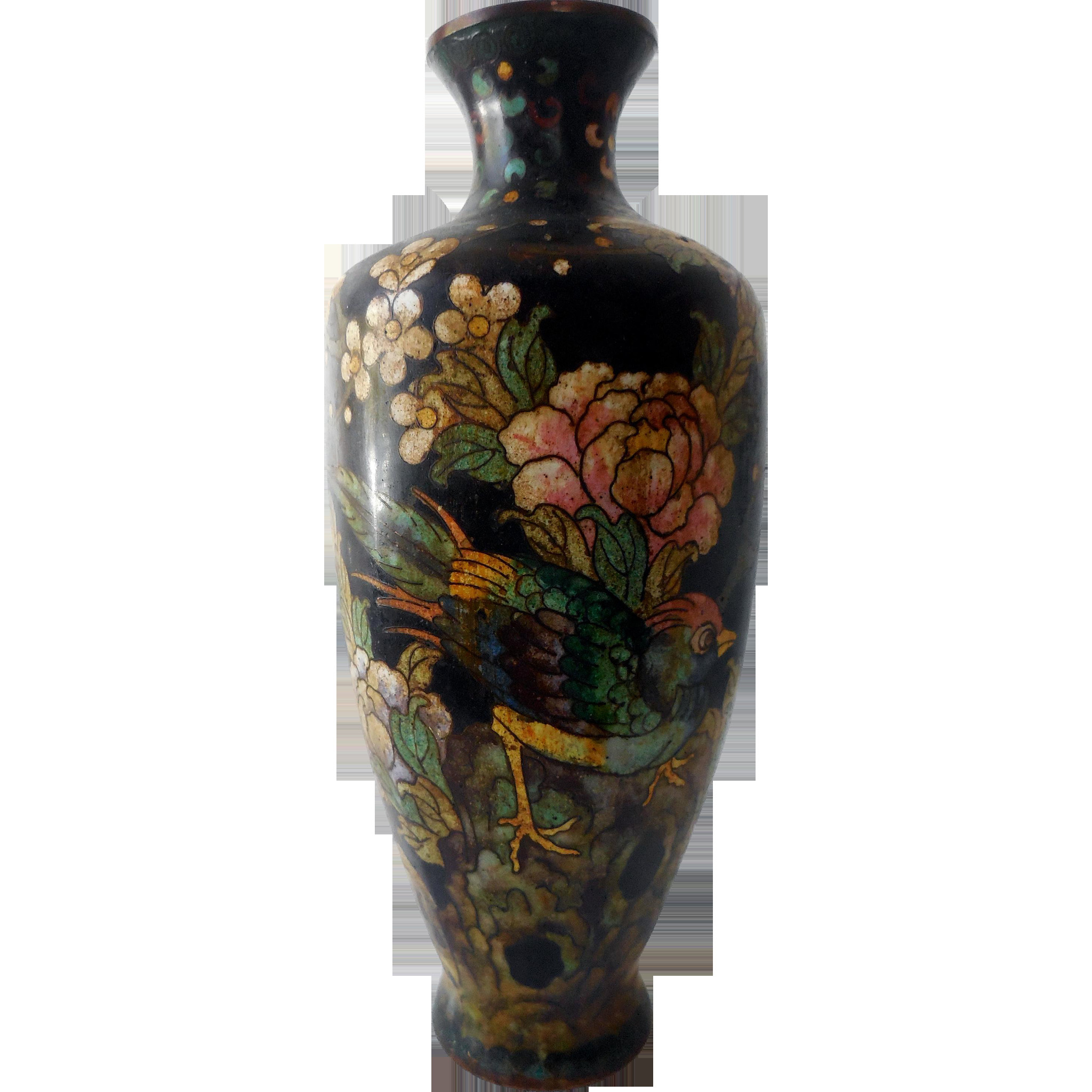 ming vase markings of antique chinese cloisonne vase 19th c great ming mark japanese in antique chinese cloisonne vase 19th c great ming mark