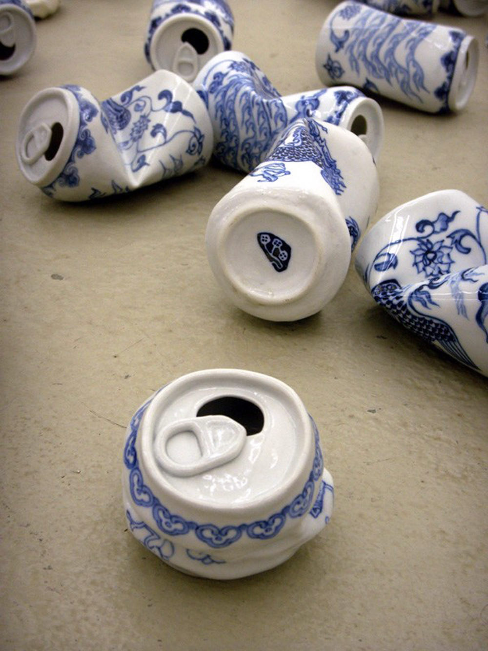 ming vases designs of art colossal page 72 within adopting traditional decorative motifs found on ming dynasty ceramics chinese artist lei xue sculpted these humorous smashed aluminum cans that bridge the
