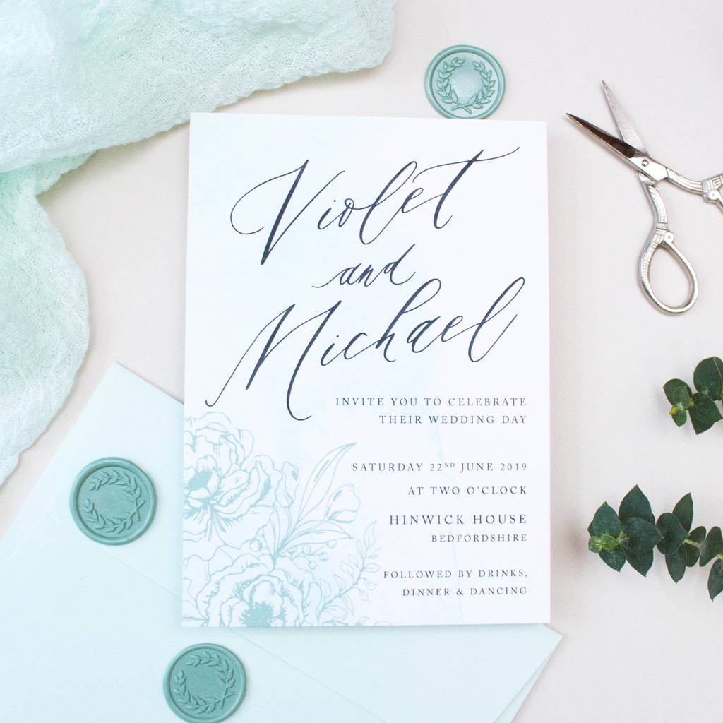 mint green vase of mint green calligraphy wedding invitation by nina thomas studio within mint green calligraphy wedding invitation