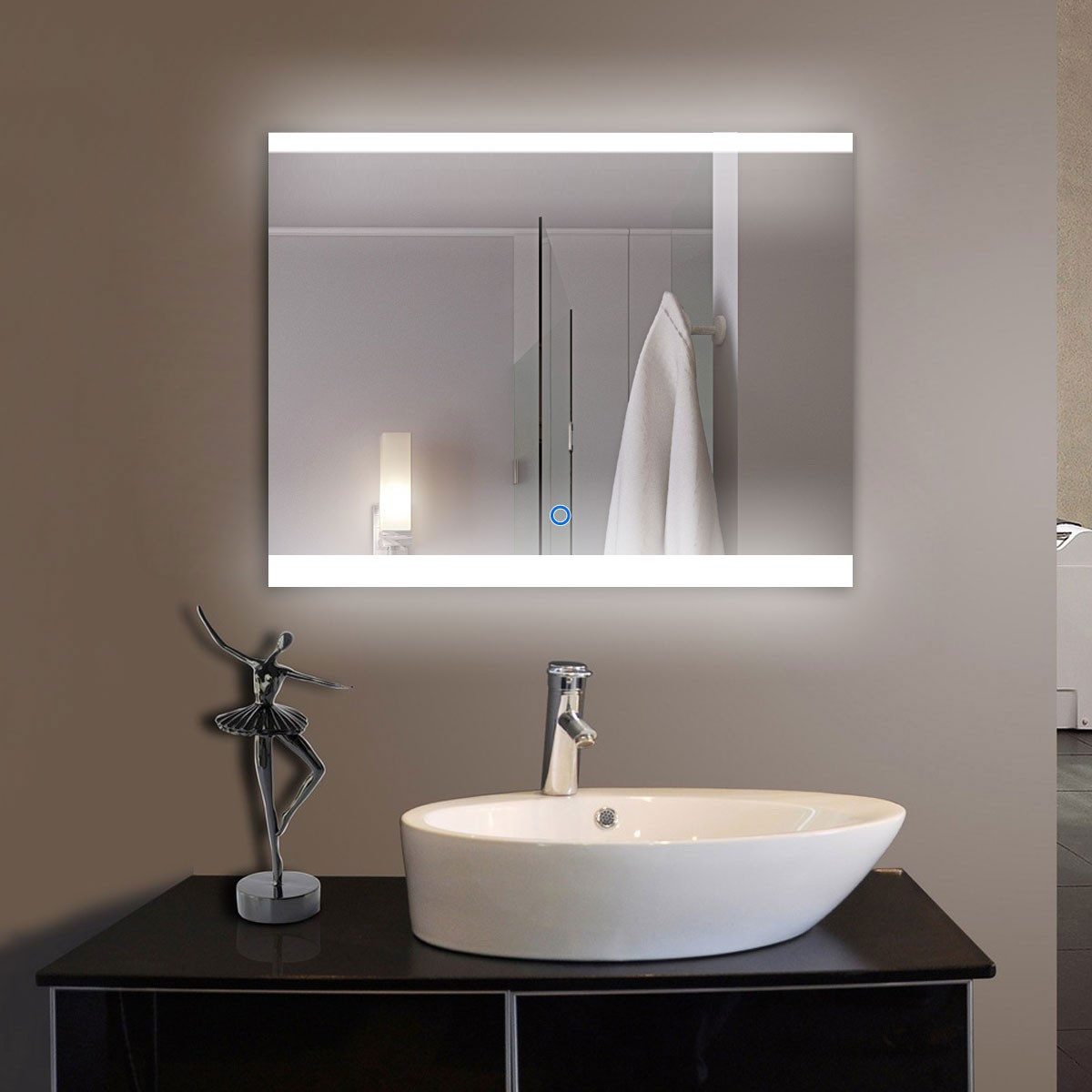 mirror mosaic vases for sale of 36 x 28 in horizontal led bathroom silvered mirror with touch button with 36 x 28 in horizontal led bathroom mirror with touch button dk od