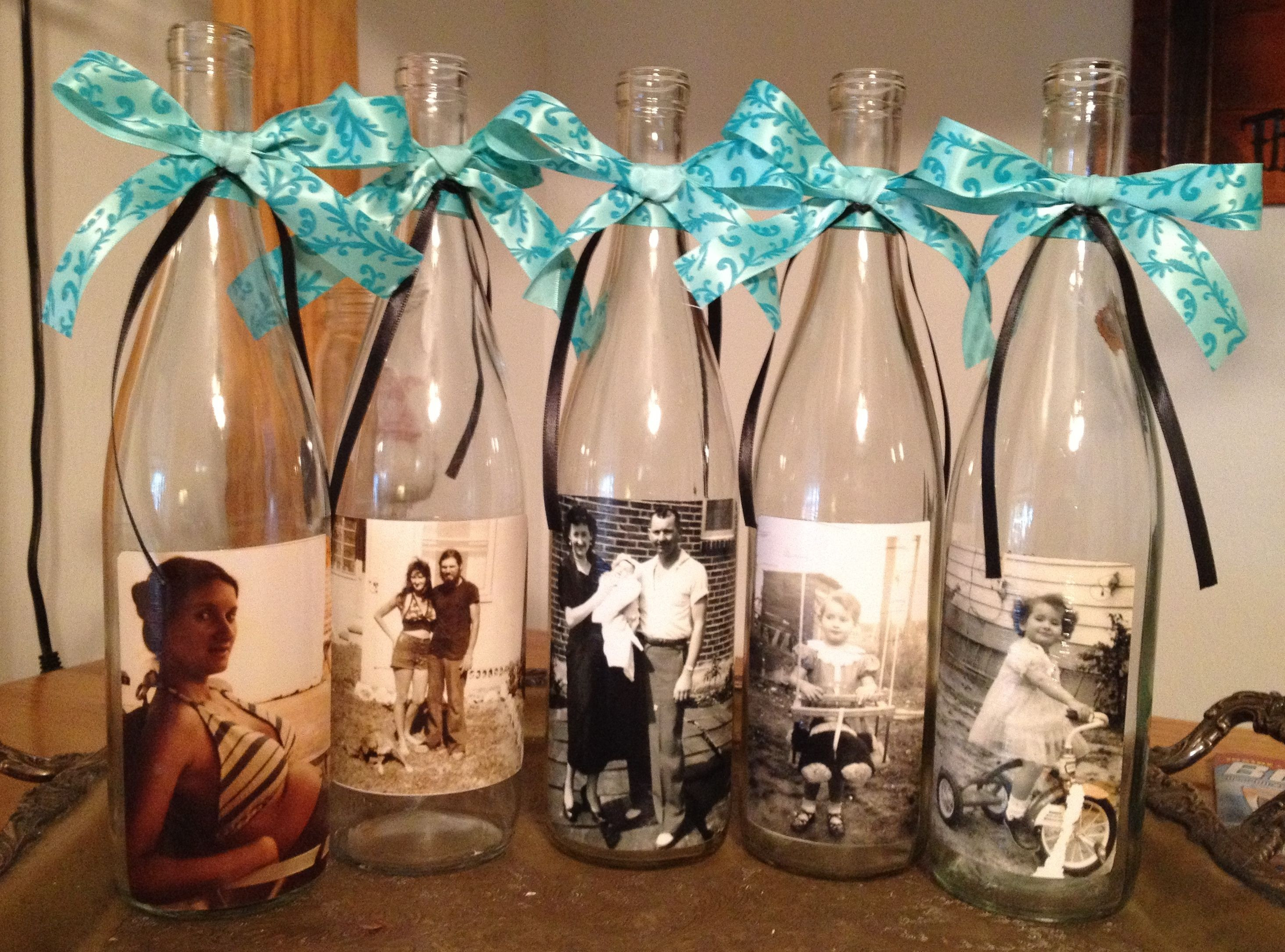 mod podge photo transfer to glass vase of how to save a bottle of wine with a damaged cork wine bottle intended for mod podge photos on wine bottles for center pieces but i would put sand in bottom tea light behind and different ribbon