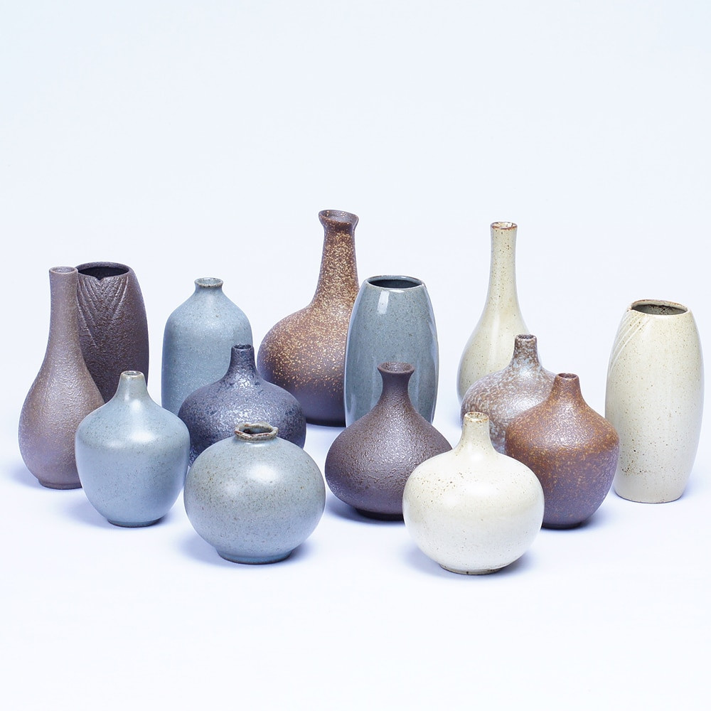 Modern Ceramic Vase Of Mini Ceramic Vase Pattern Flower Creative Color Ceramic Vase Desktop for Handmade Ceramic Small Vase Clay Pot Flower Dried Flowers Retro Simplicity Stoneware Living Room Decorations ornaments