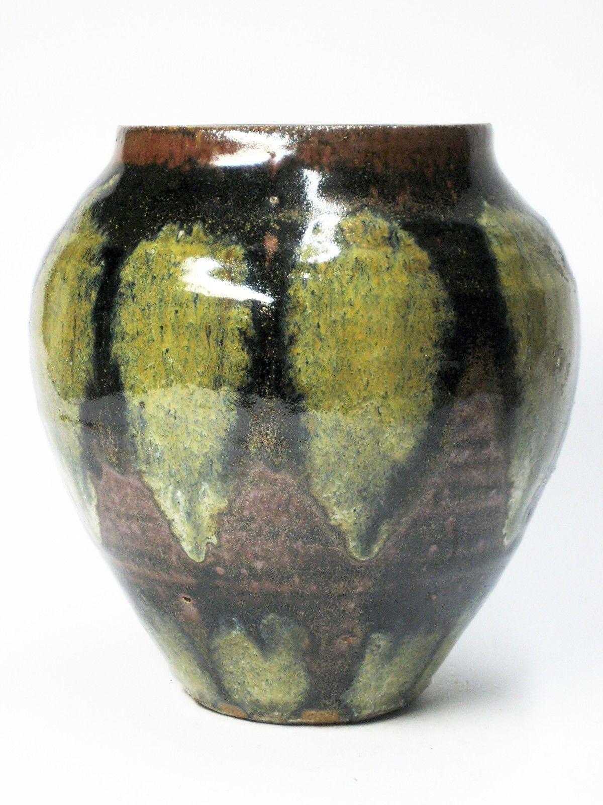 modern pottery vases of studio art stoneware pottery danish modern mid century tenmoku vase with regard to studio art stoneware pottery danish modern mid century tenmoku vase pot vessel