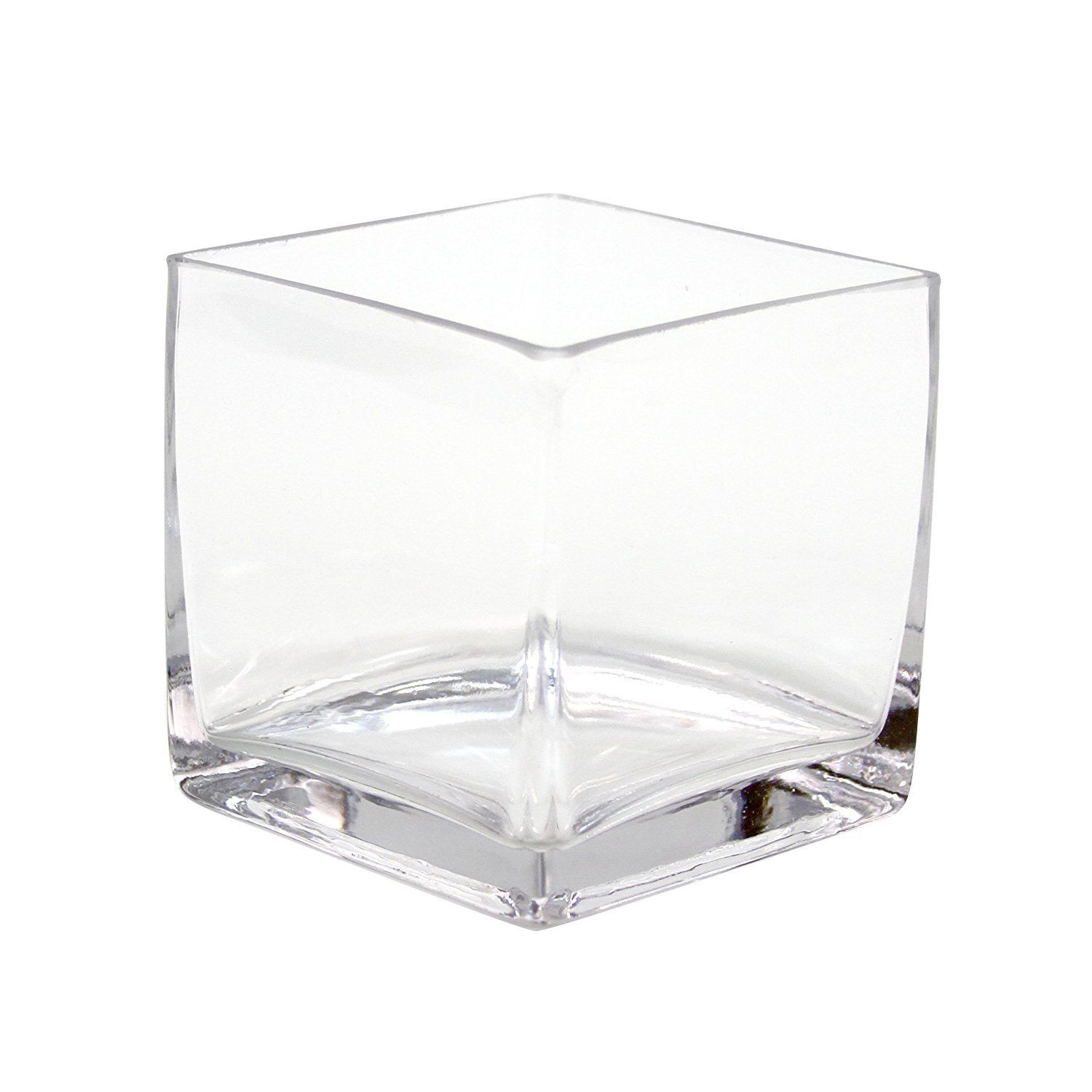 modern vases wholesale of koyal wholesale 404343 12 pack cube square glass vases 4 by 4 by 4 in glass