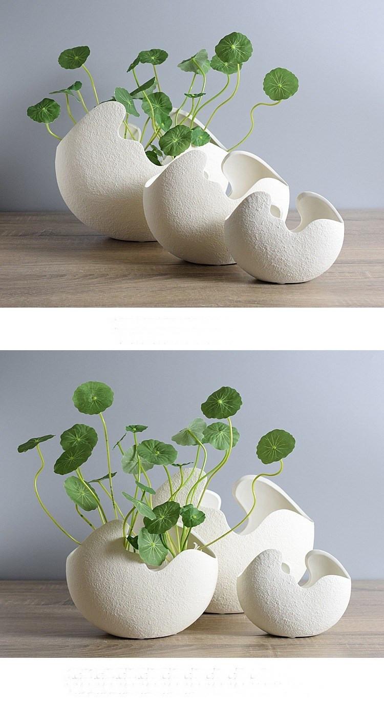 Modern White Ceramic Vase Of A'm Type Modern Creative White Eggshell Handmade Ceramic Vase Flower Inside 20161209 202949 001 20161209 202949 002 3592 20161209 202949 003 20161209 202949 0 20161209 202949 005