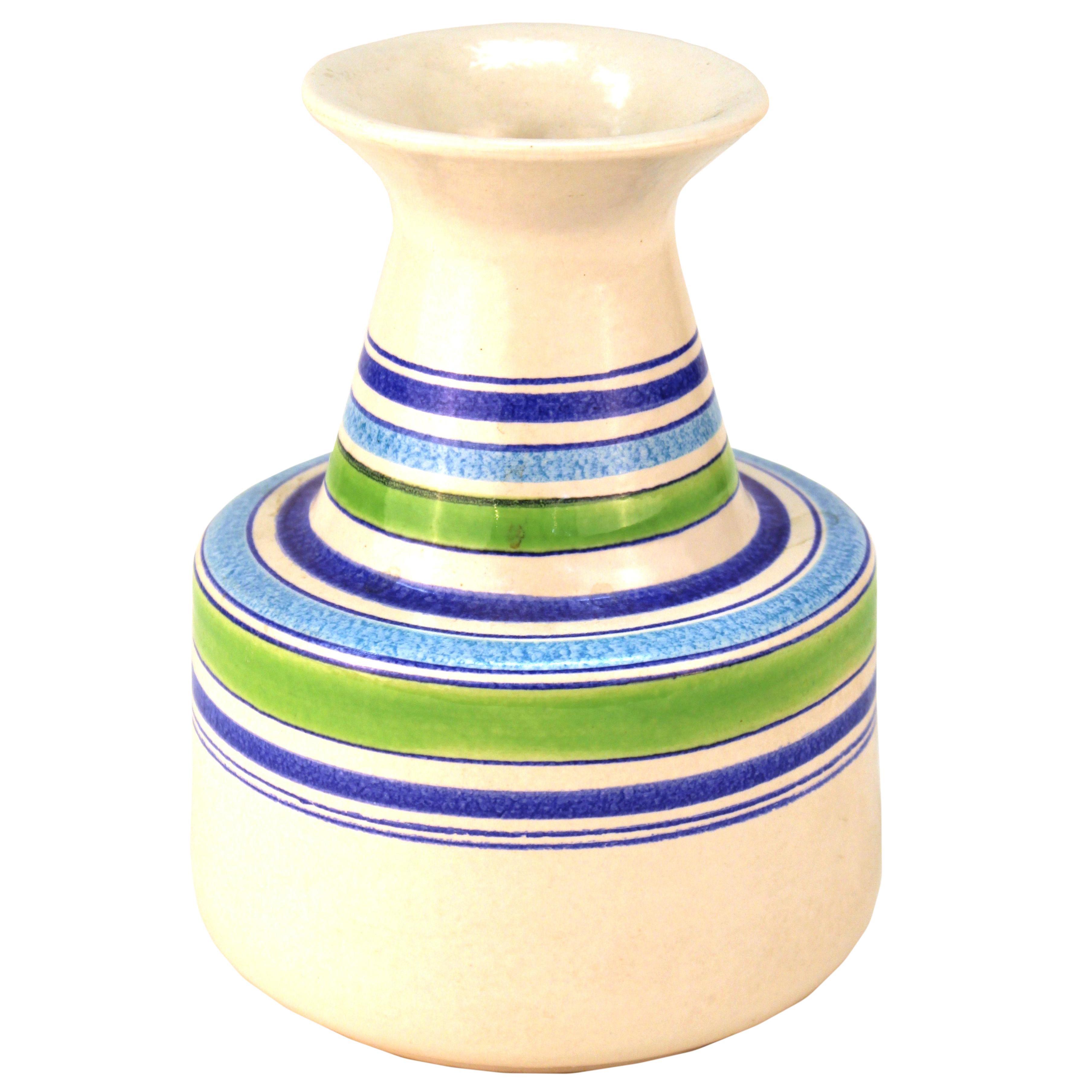 Modern White Ceramic Vase Of Aldo Londi Mid Century Modern Raymor for Bitossi Rosenthal Netter within Aldo Londi Mid Century Modern Raymor for Bitossi Rosenthal Netter Ceramic Vase for Sale at 1stdibs