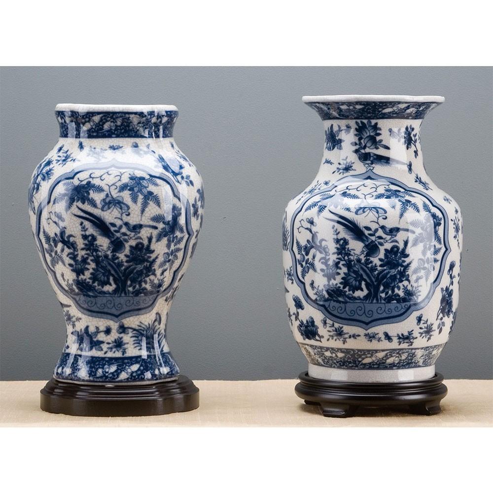 Modern White Ceramic Vase Of Chinoiserie Vase Brass Burl 10794 Throughout Chinoiserie Vase