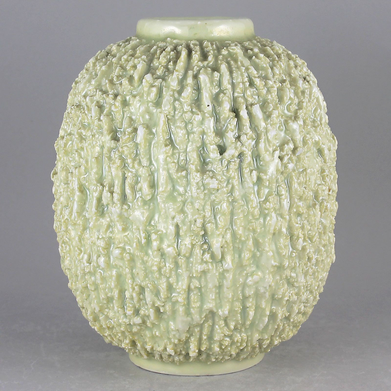 Modern White Ceramic Vase Of Gunnar Nylund 1936 Hypnotic Hedgehog Vase In White Medium Pertaining to Gunnar Nylund 1936 Hypnotic Hedgehog Vase In White Medium