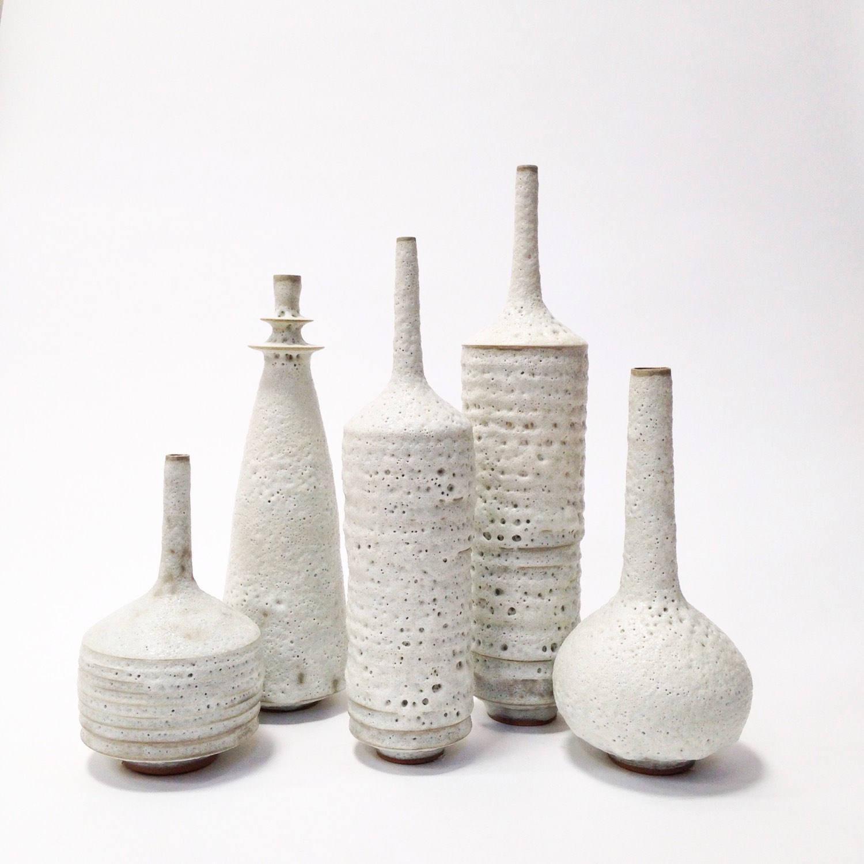 "Modern White Ceramic Vase Of Made to order Set Of 5 Large Ceramic Stoneware Vases In Etsy Pertaining to DŸ""Žzoom"