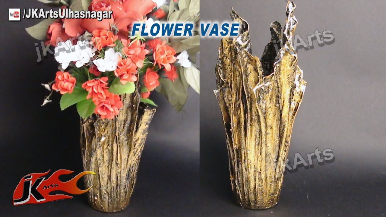 modge podge pictures on glass vase of diy vase from waste cloth how to make jk arts 491 youtube for maxresdefault