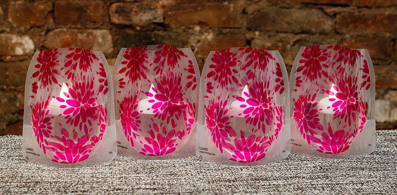 modgy expandable vase of amazon com modgy lum3018 lila magenta lumizu luminary lanterns throughout amazon com modgy lum3018 lila magenta lumizu luminary lanterns includes four luminaries and four water activated floating led candles with batteries four