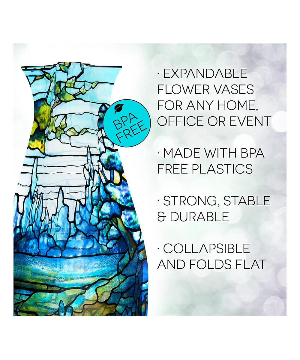 modgy expandable vase of modgy louis c tiffany iris landscape collapsible expandable vase pertaining to share