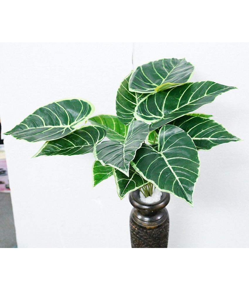 money plant in vase of yutiriti big leaves natural looking green artificial plants bunch within yutiriti big leaves natural looking green artificial plants bunch plastic pack of 1