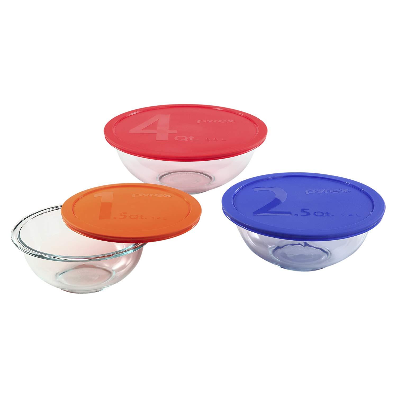 montreux crystal vase of amazon com pyrex 1085308 smart essentials 6 piece mixing bowl set inside amazon com pyrex 1085308 smart essentials 6 piece mixing bowl set bowls
