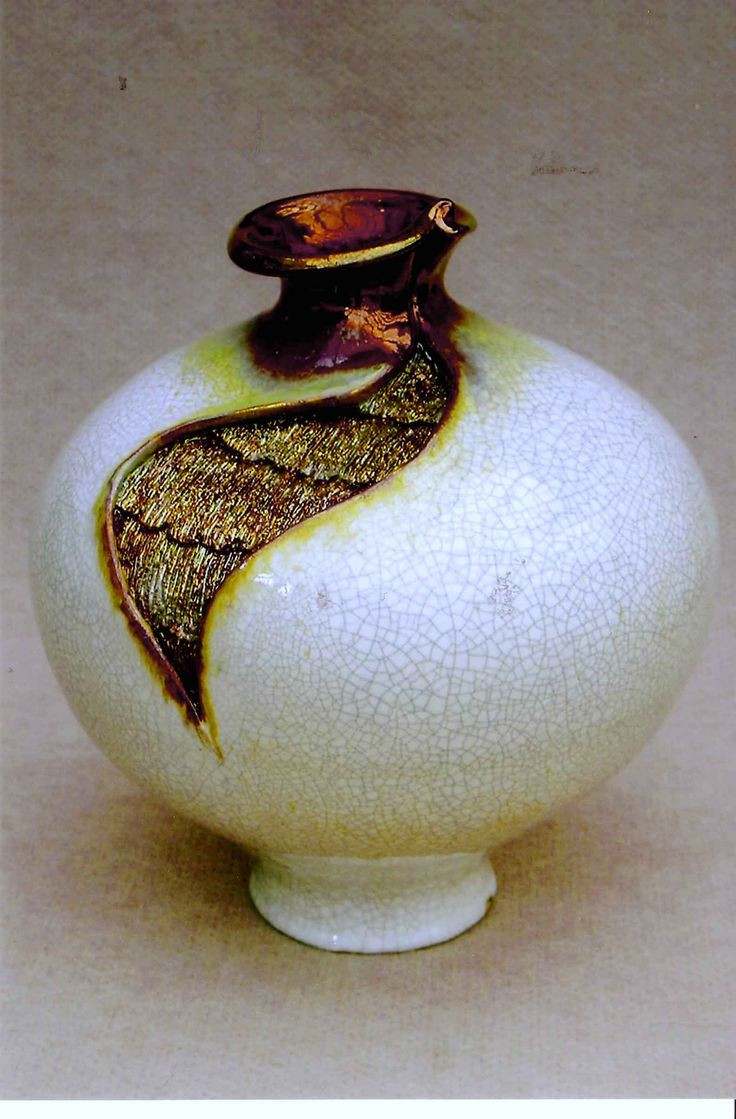 moroccan ceramic vase of 17 best proyek untuk dicoba images on pinterest vases artists and throughout m wein raku fired cracle gl with copper insert a· pottery