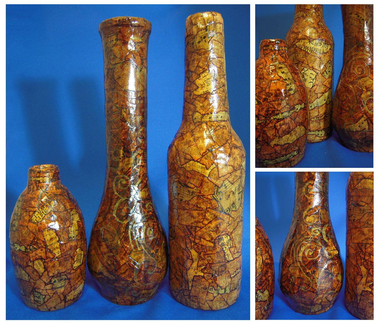 Most Expensive Vase In the World Of Old Wine Bottle Jar Vases Cover with Masking Tape and Stain for Old Wine Bottle Jar Vases Cover with Masking Tape and Stain with Shoe Polish Looks Like Leather when It Dries Did This as A Kid