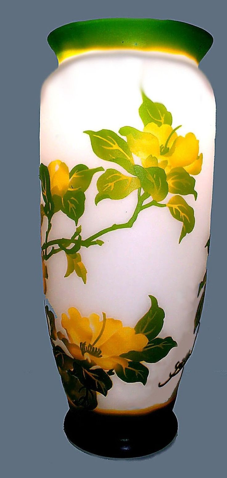mottahedeh tobacco leaf vase of 226 best vases images on pinterest glass art beautiful perfume within rare important monumental galle cameo glass vase france ca 1900 authentic 30inch