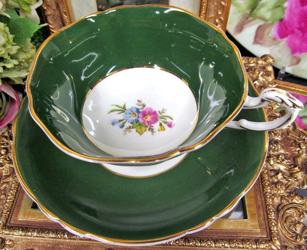 mottahedeh tobacco leaf vase of paragon tea cup and saucer green floral pattern teacup for paragon tea cup and saucer green floral pattern teacup