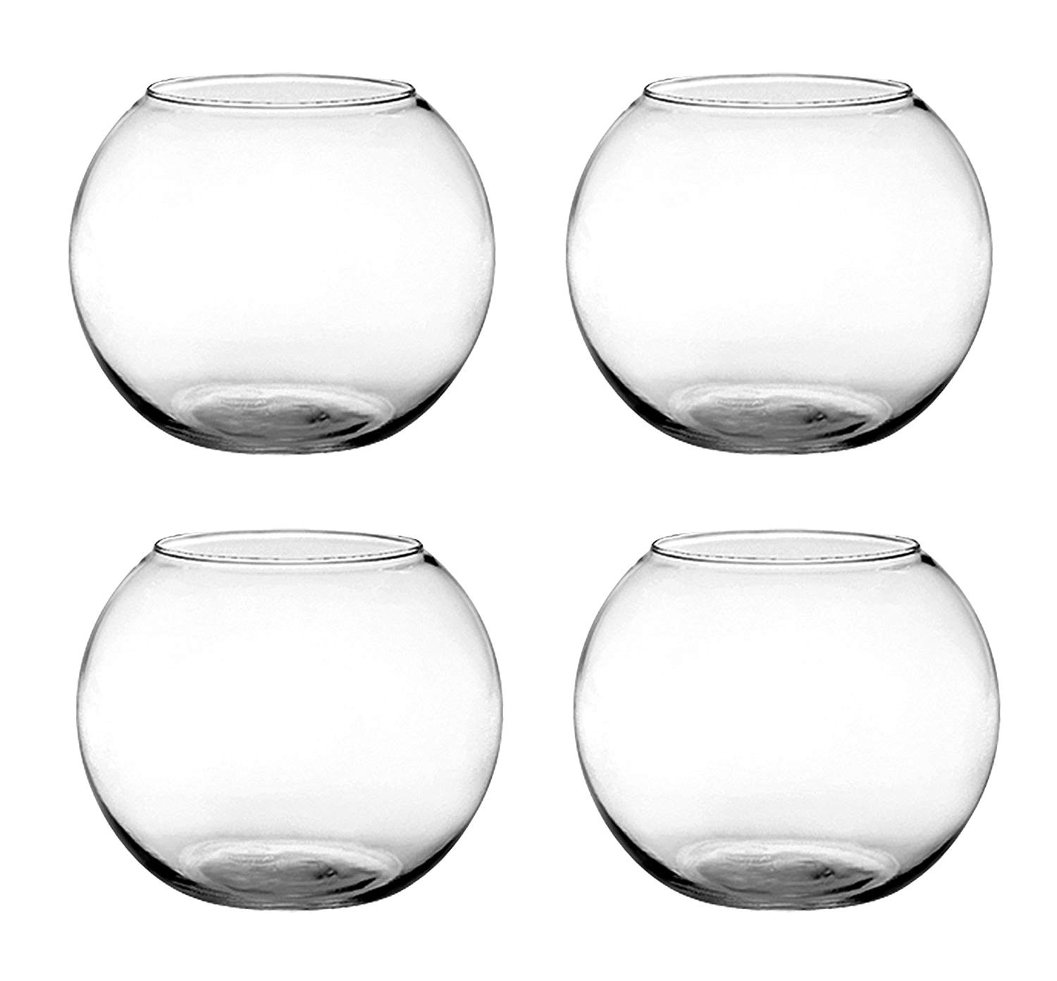 multi colored glass vases of amazon com set of 4 syndicate sales 6 inches clear rose bowl inside amazon com set of 4 syndicate sales 6 inches clear rose bowl bundled by maven gifts garden outdoor