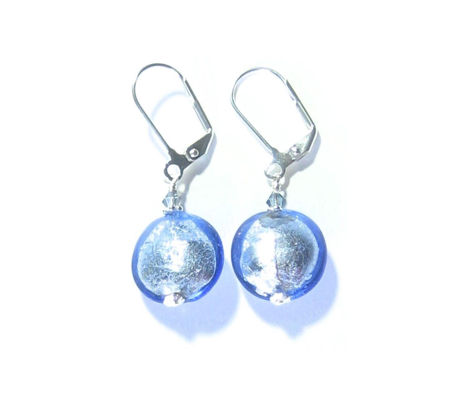 murano blue vase of murano glass blue disc sterling silver earrings products pertaining to murano glass blue disc sterling silver earrings