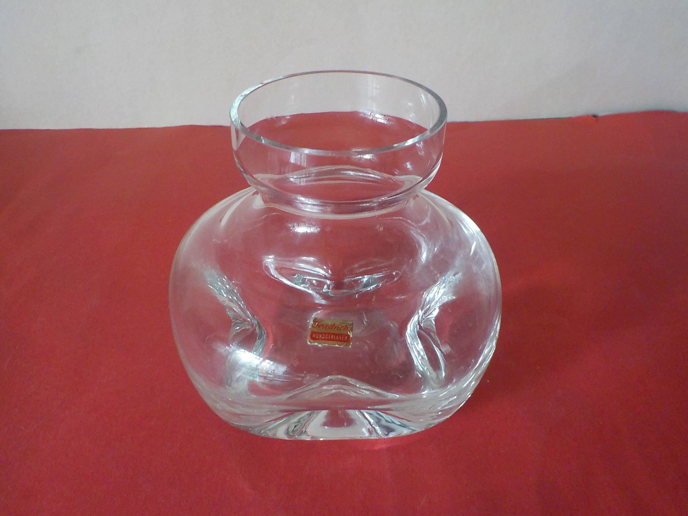 "murano glass handbag vase of small friedrich glas vase glass vase hyacinth vase clear mouth etsy throughout dŸ""Žzoom"