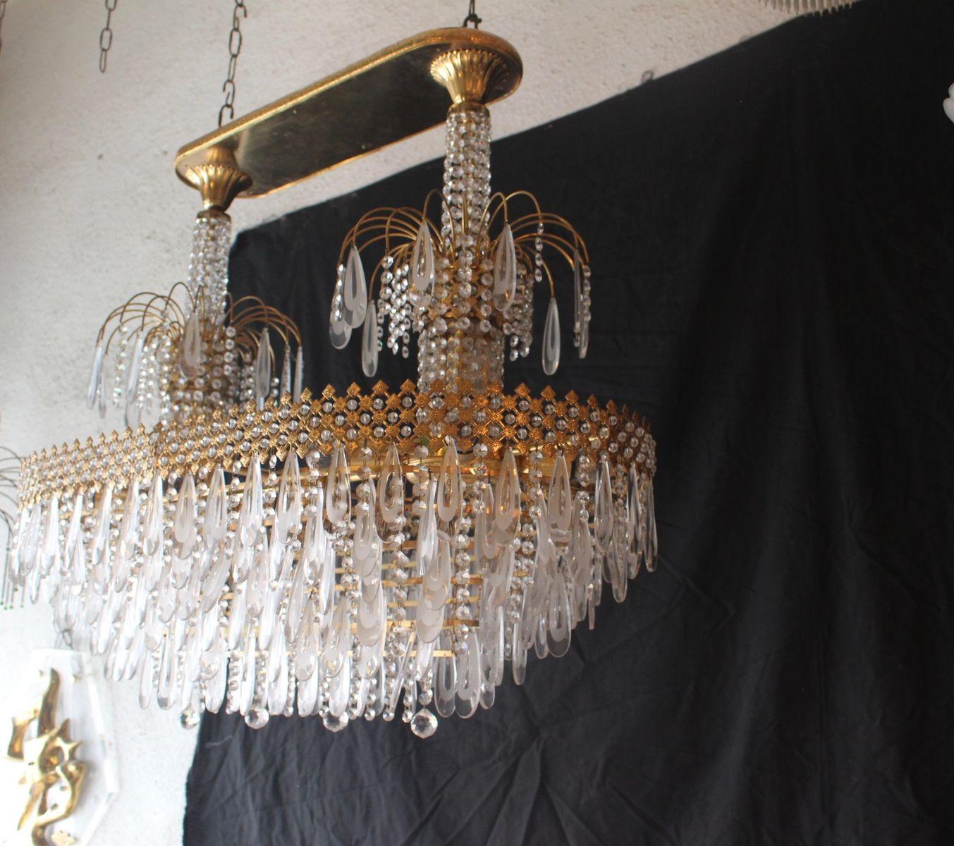 murano glass handbag vase of vintage murano glass swarovski crystal chandelier 1980s for sale throughout a7308 00