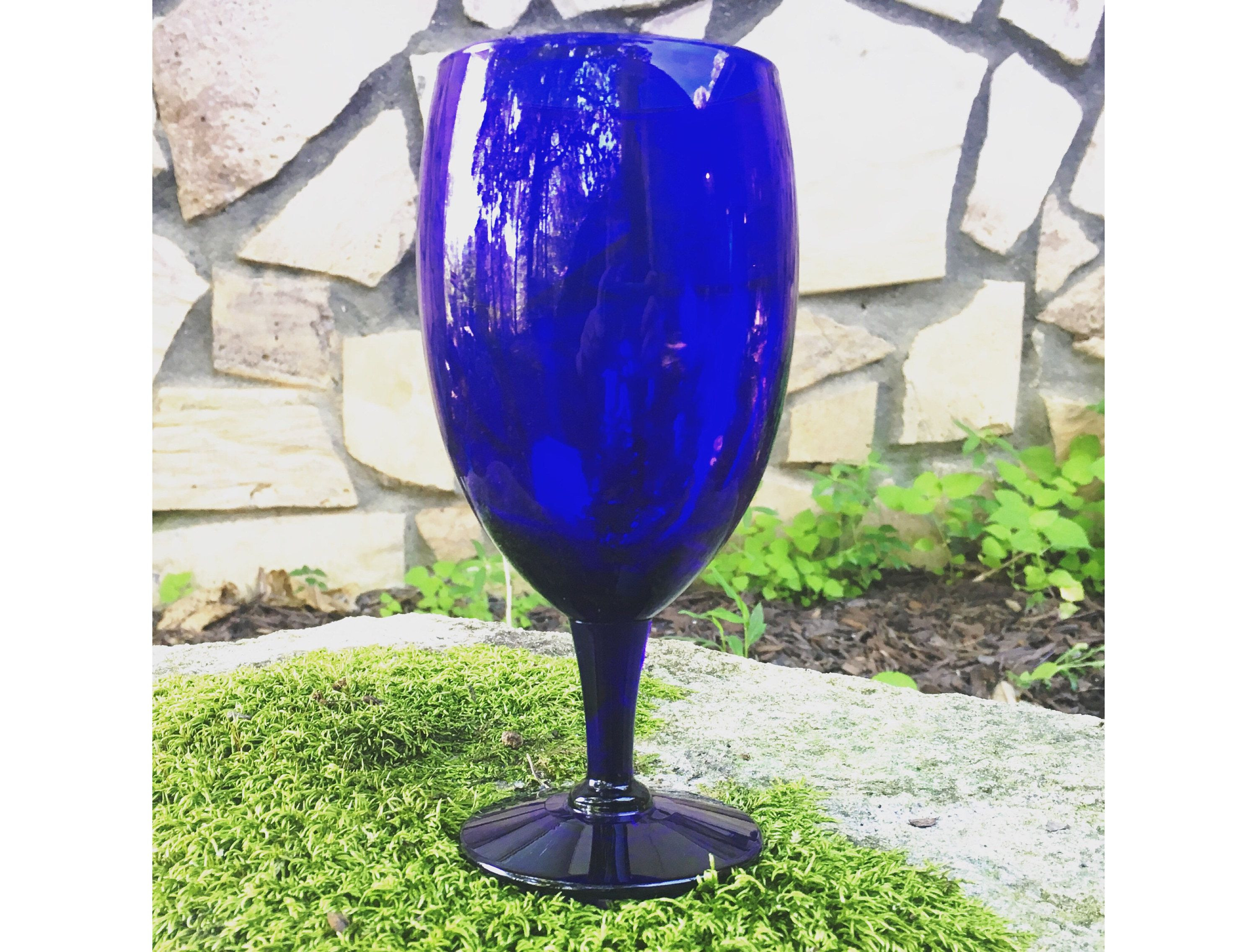 murano glass tall vase of cobalt blue glass vase awesome cobalt blue wine glass altar chalice inside cobalt blue glass vase awesome cobalt blue wine glass altar chalice altar decor vintage