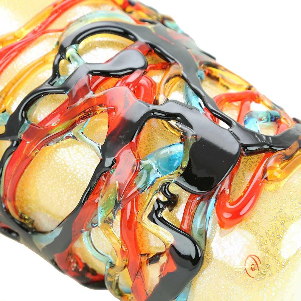 murano millefiori glass vase of murano glass vases murano glass vesuvio abstract art vase within murano glass vesuvio abstract art vase