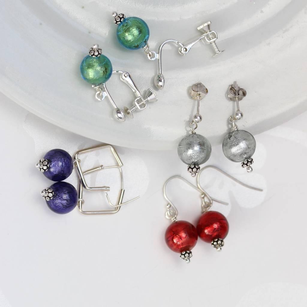 murano vase value of round murano glass earrings by bish bosh becca notonthehighstreet com for green black diamond red and deep purple