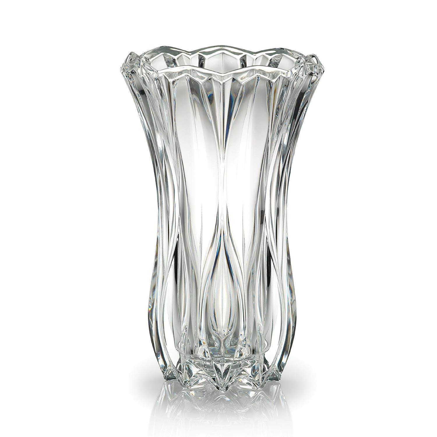 nachtmann art deco vase of amazon com celebrations by mikasa blossom crystal vase 12 inch for amazon com celebrations by mikasa blossom crystal vase 12 inch home kitchen