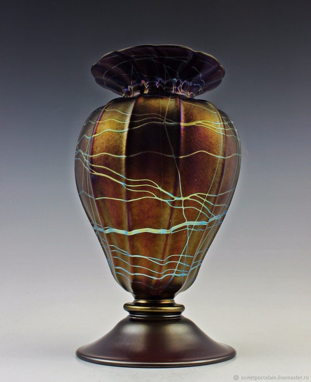 nachtmann art deco vase of vintage colored glass vase image vase colored glass iridescence for vase colored glass iridescence letts art deco shop online on