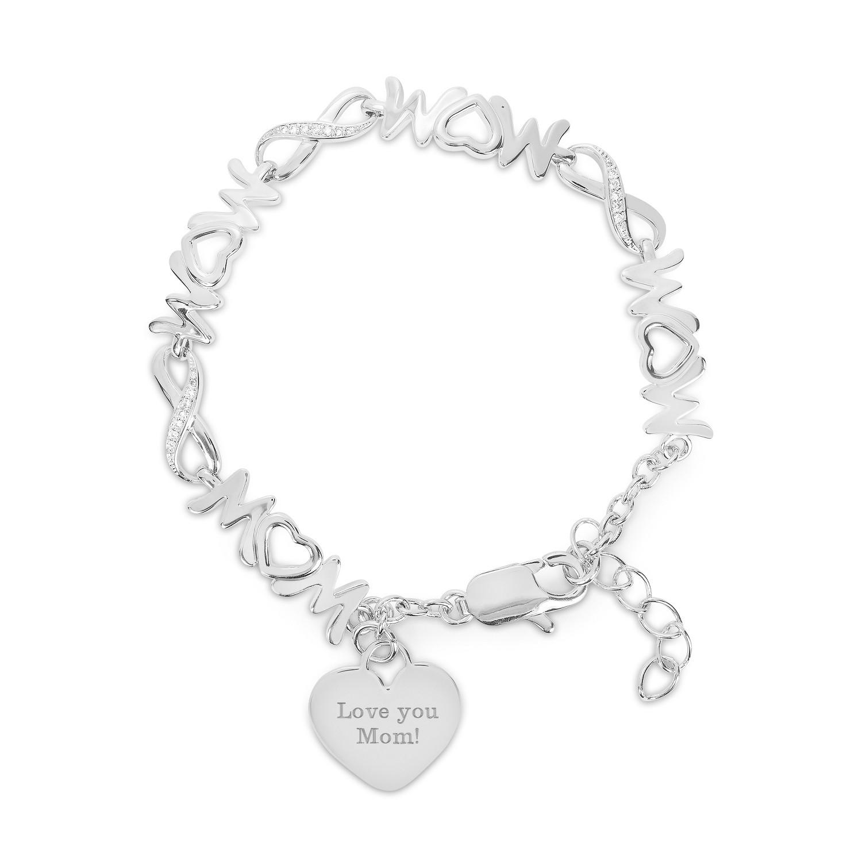 nambe infinity vase of infinity link mom bracelet pertaining to 000350151