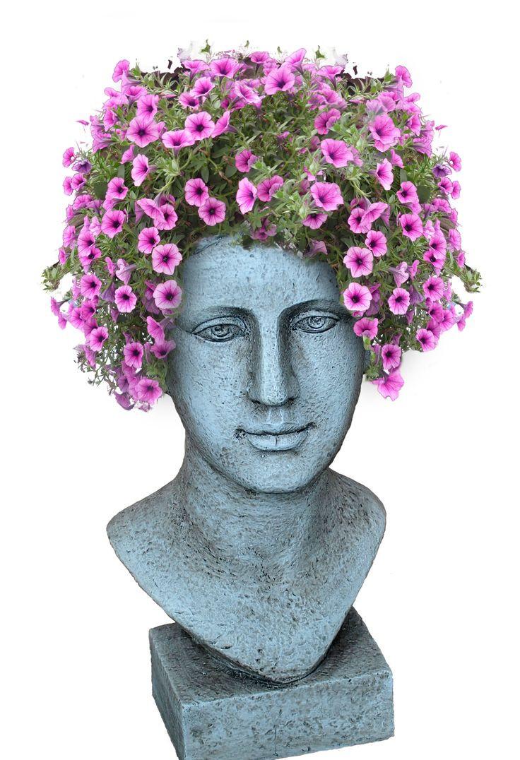 napco lady head vase of head planters i made headplanters vases headvases plants for 7891267f419bd9b8a26e1f2c771bd408 head planters the gardener